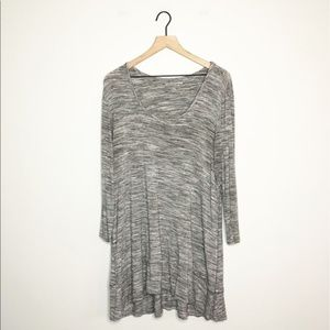 Soft Surroundings Heathered Grey Tunic Dress